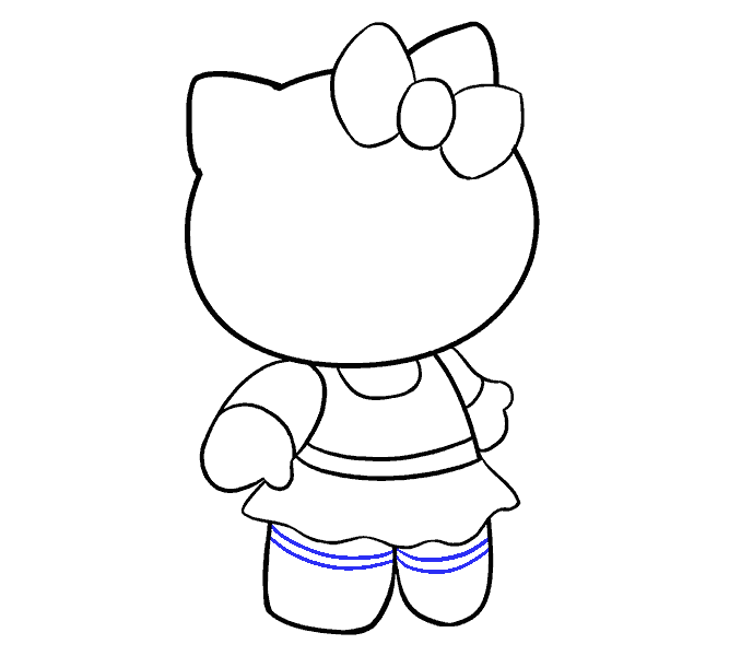 Hello Kitty как нарисовать 16