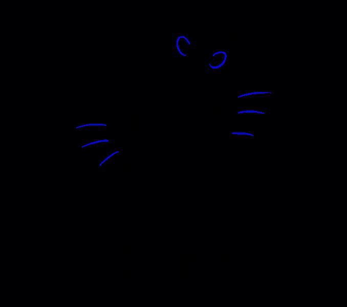 Hello Kitty как нарисовать 19