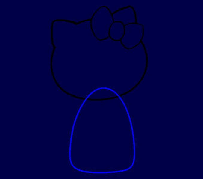 Hello Kitty как нарисовать 6