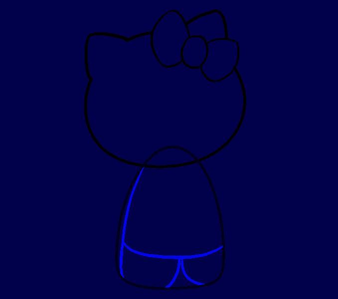 Hello Kitty как нарисовать 7
