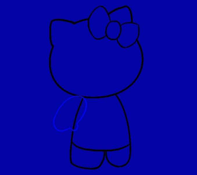 Hello Kitty как нарисовать 9