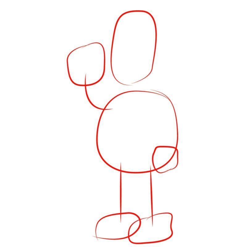 как нарисовать гомера Симпсона 1