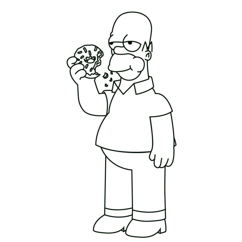 как нарисовать гомера Симпсона 11