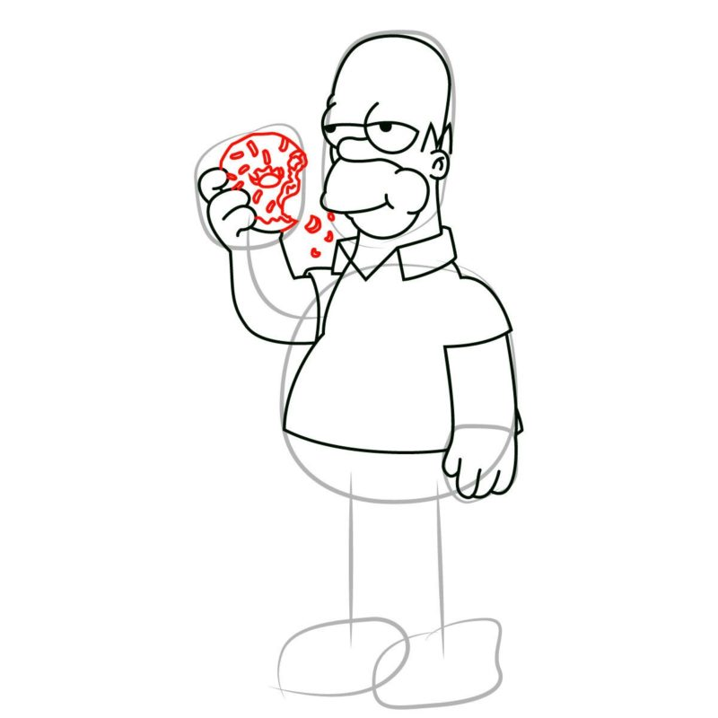 как нарисовать гомера Симпсона 8