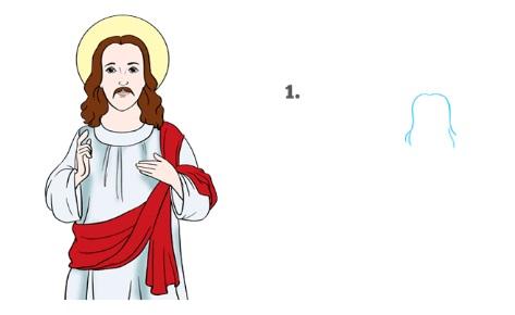 Рисуем Иисуса Христоса