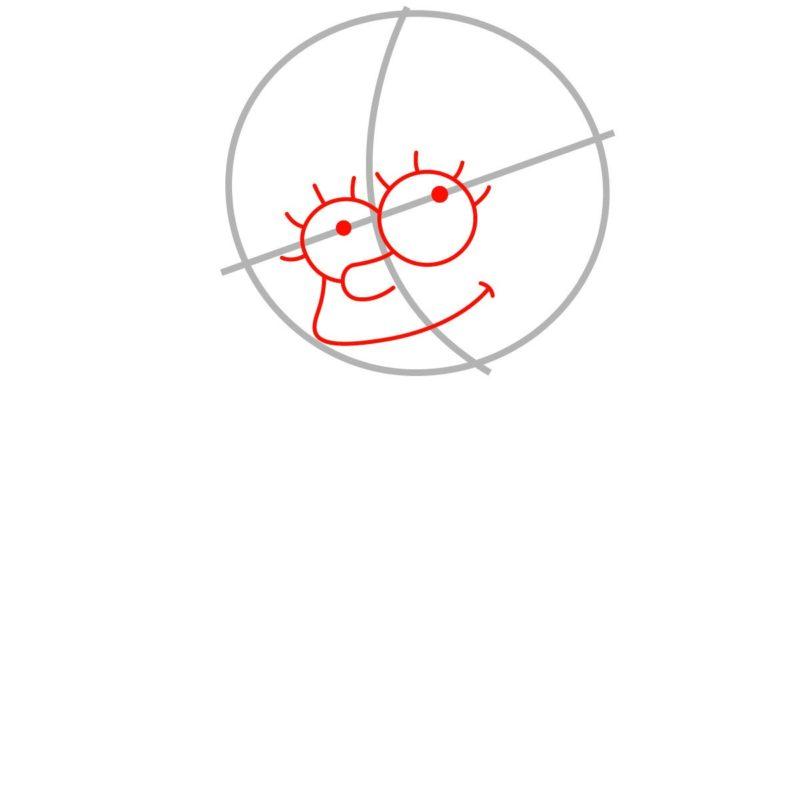 Как нарисовать Лизу Симпсон 2