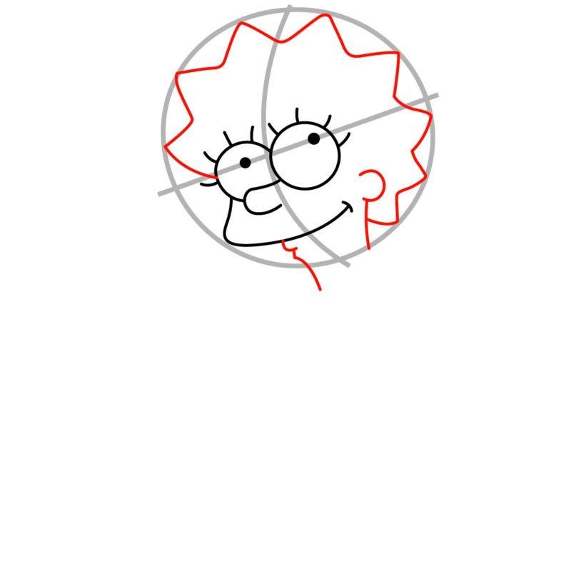 Как нарисовать Лизу Симпсон 3