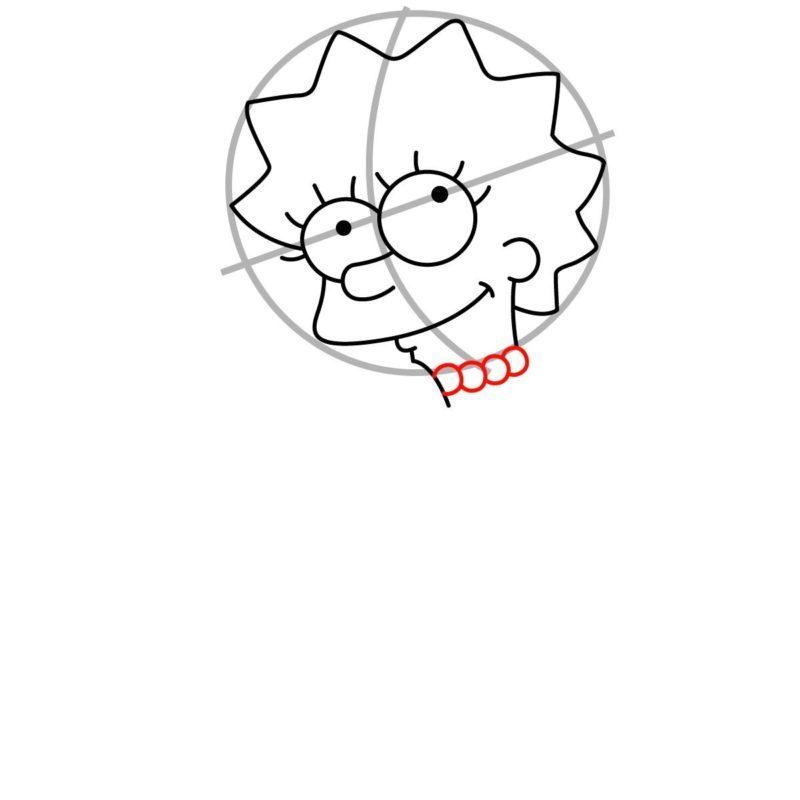 Как нарисовать Лизу Симпсон 4