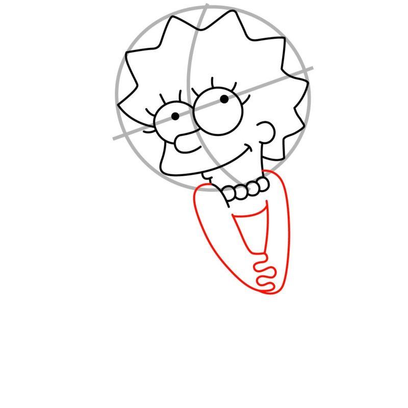 Как нарисовать Лизу Симпсон 5