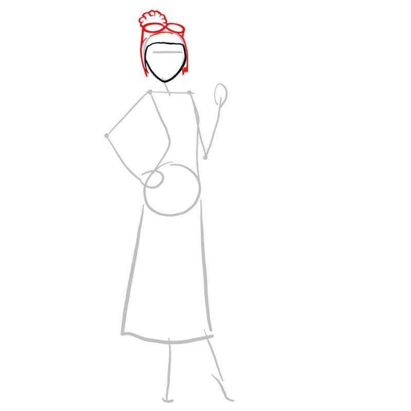 как нарисовать люси из гадкий я 3