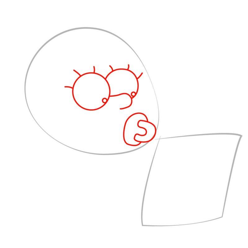 как нарисовать мэгги симпсон 2