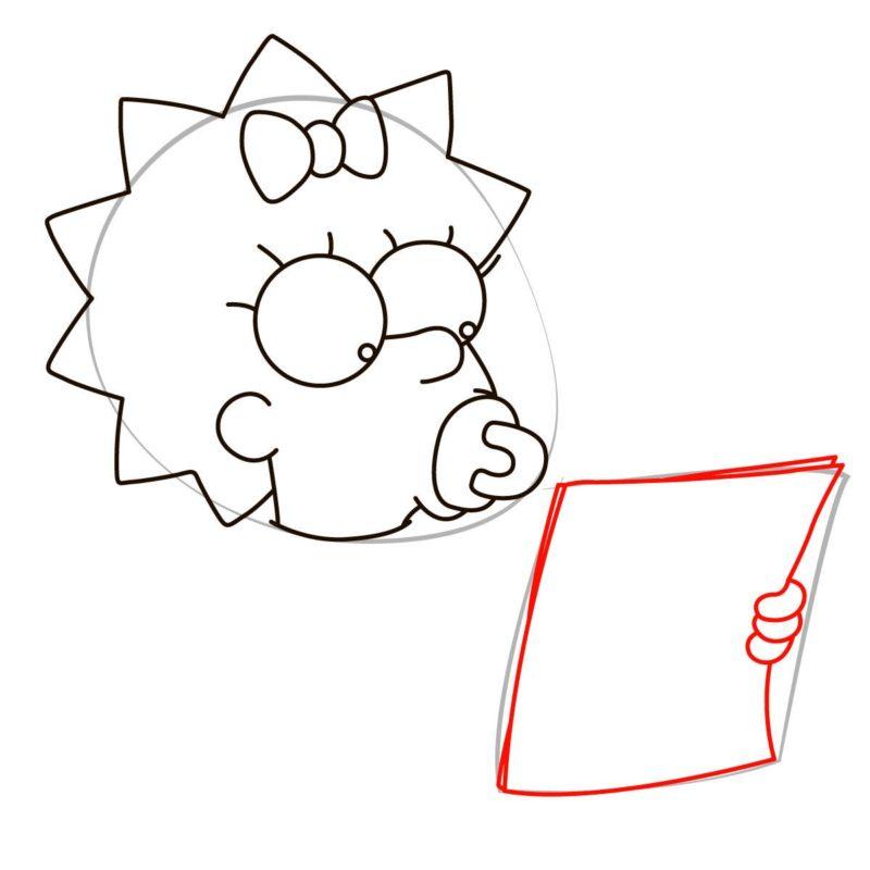 как нарисовать мэгги симпсон 4