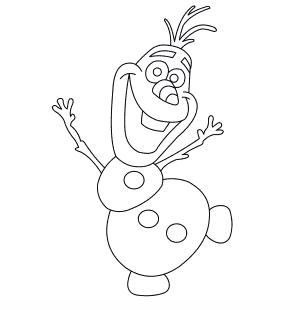 как нарисовать Олафа 0
