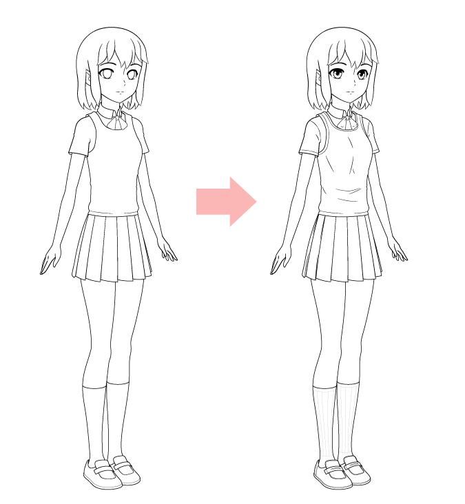 рисунок детали аниме