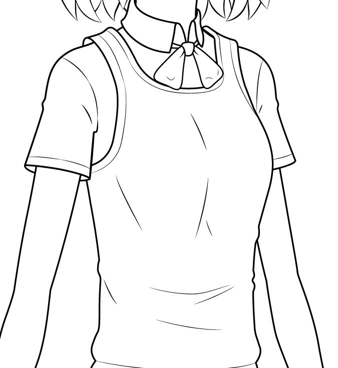 кофта школьницы аниме