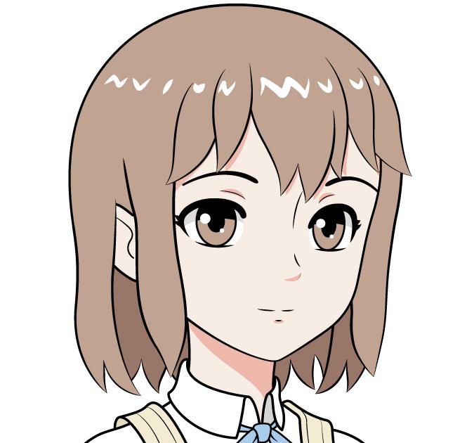 Рисуем аниме школьницу