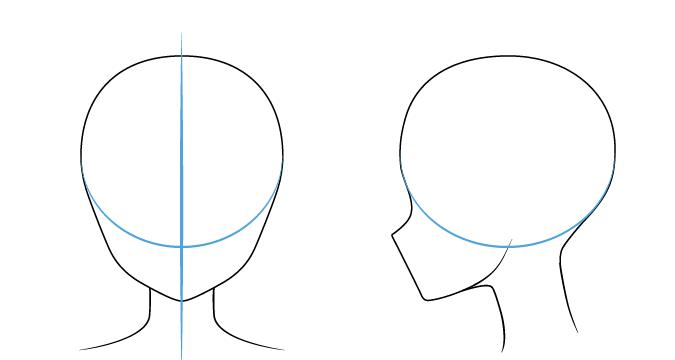 рисуем аниме лицо 1