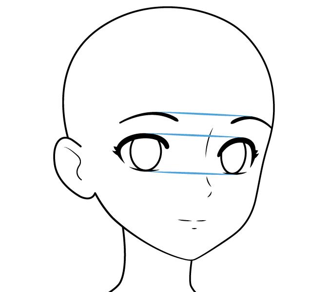 лицо аниме персонажа