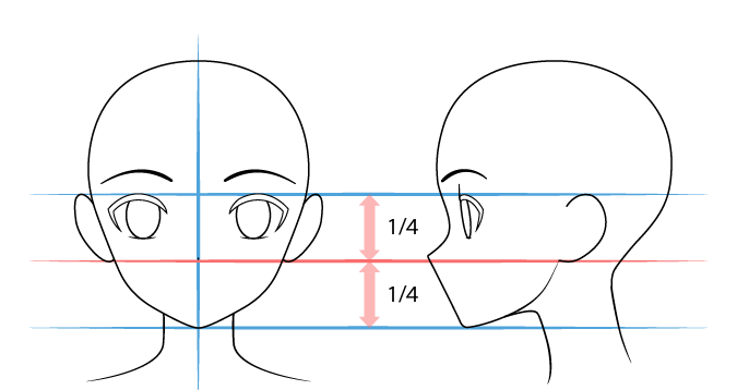 нос аниме нарисовать