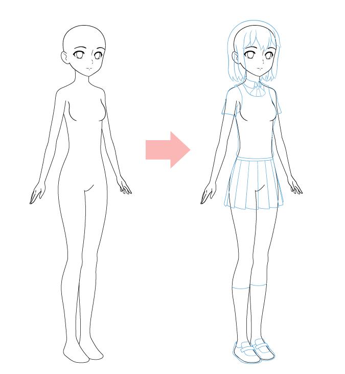 одежда аниме школьница