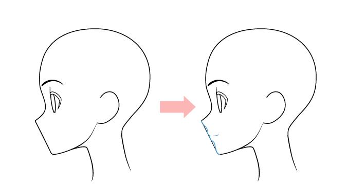 губа нарисовать аниме