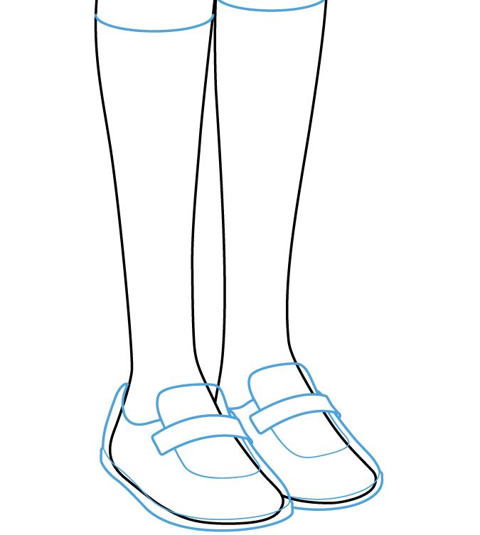 аниме носки рисовать