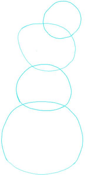 Поэтапно нарисовать Анну и Эльзу 1