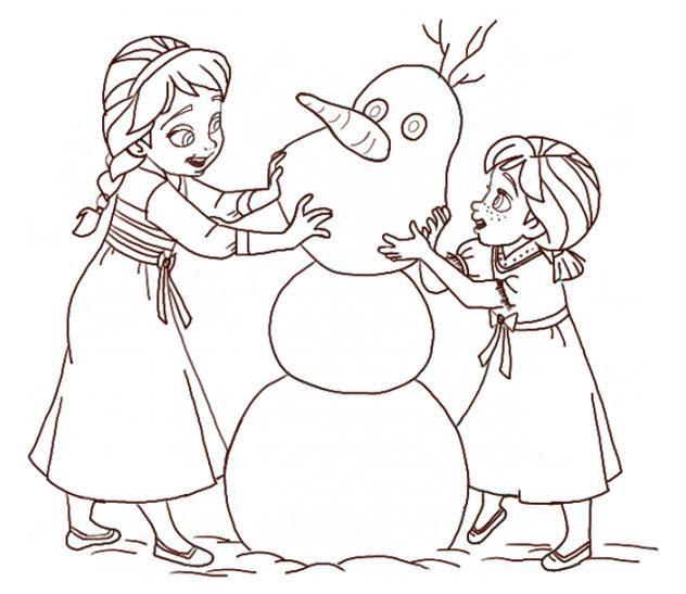 Поэтапно нарисовать Анну и Эльзу 17