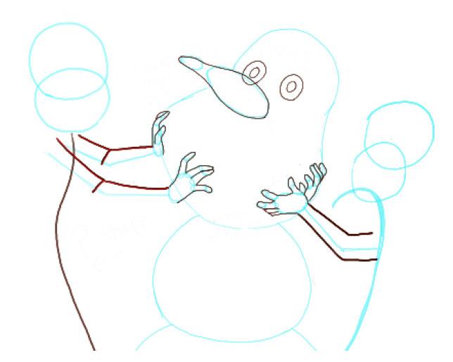 Поэтапно нарисовать Анну и Эльзу 6