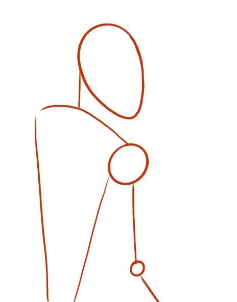 урок рисования Геральта 1