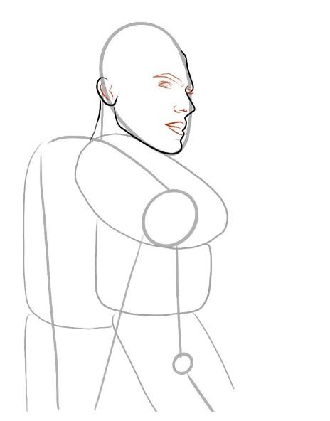 урок рисования Геральта 4