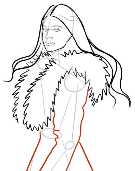 как нарисовать Йеннифер 6