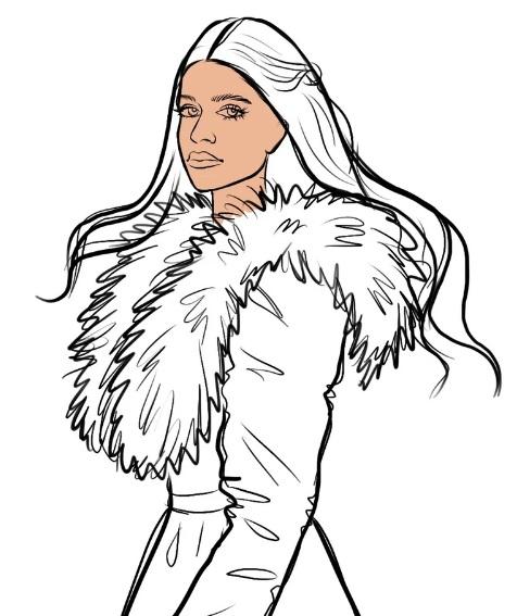 как нарисовать Йеннифер 8