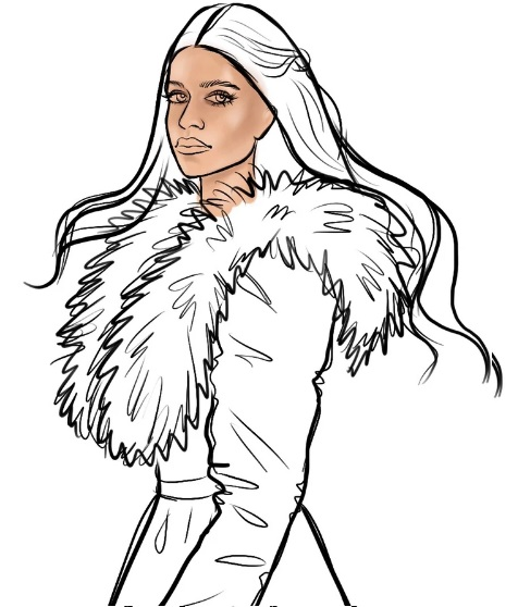 как нарисовать Йеннифер 9