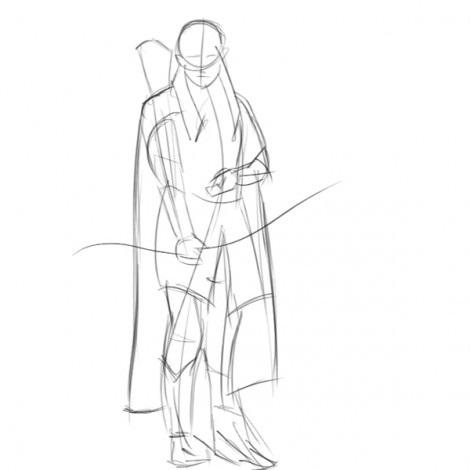 как нарисовать леголаса 2
