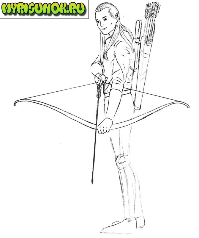 рисуем леголаса 8