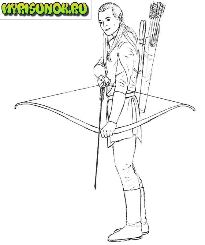рисуем леголаса 9