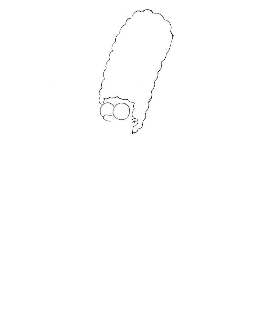 как нарисовать Мардж Симпсон 2