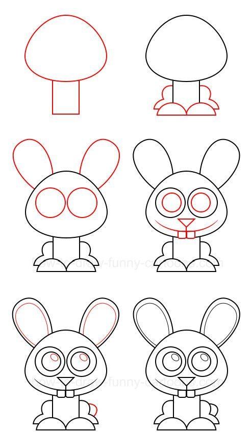 заяц легко рисовать
