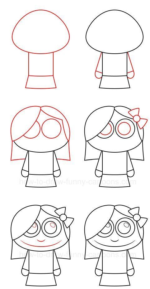 девочка легко рисовать