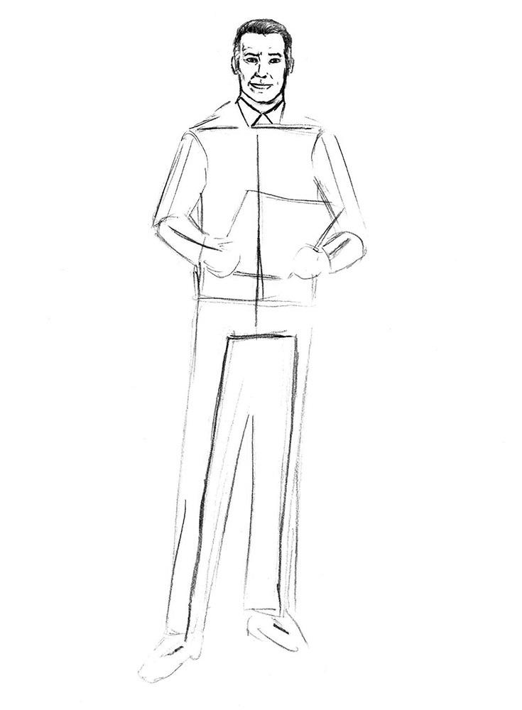 как нарисовать доктора 4