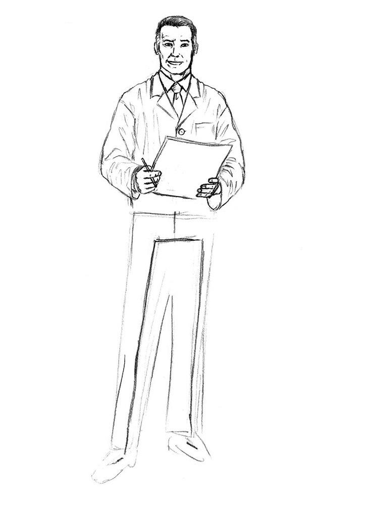 как нарисовать доктора 6