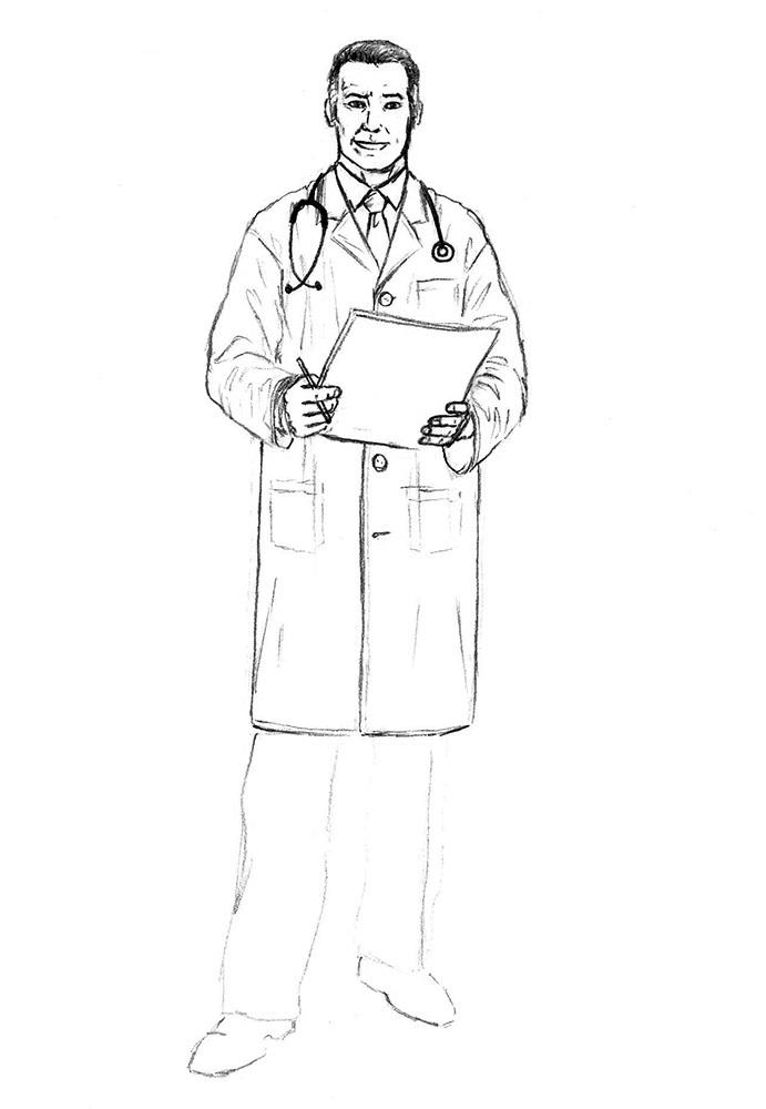 как нарисовать доктора 7