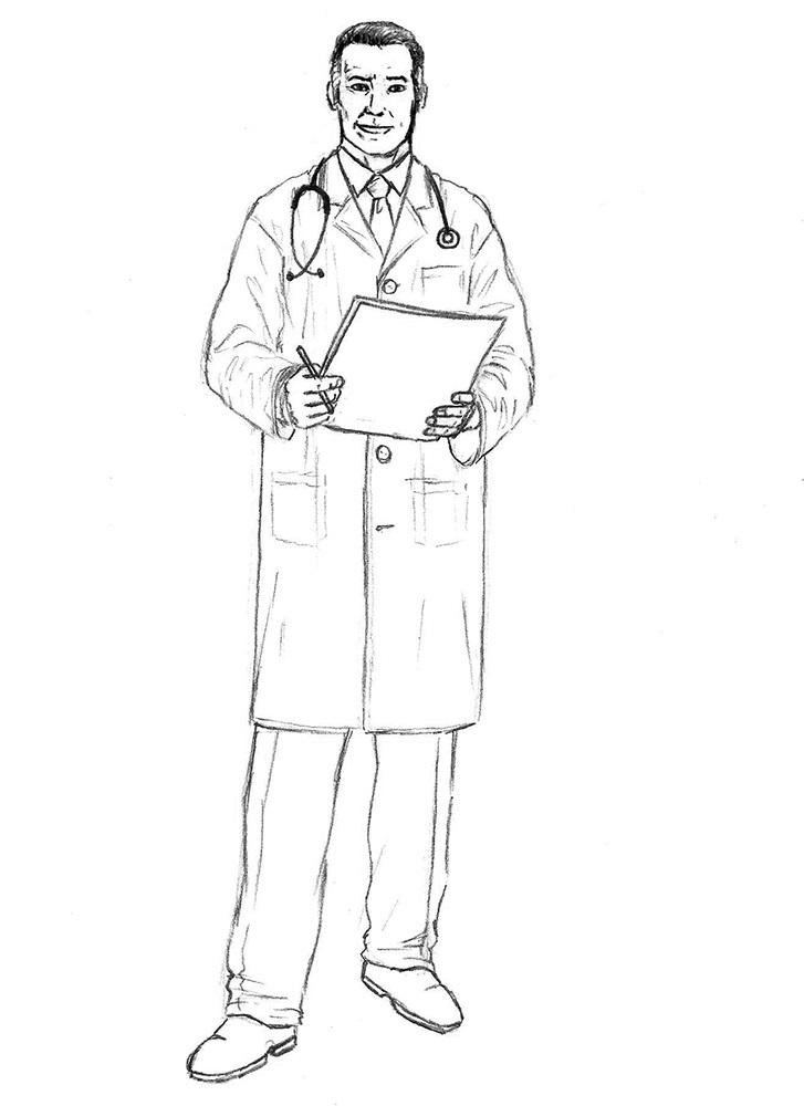 как нарисовать доктора 8