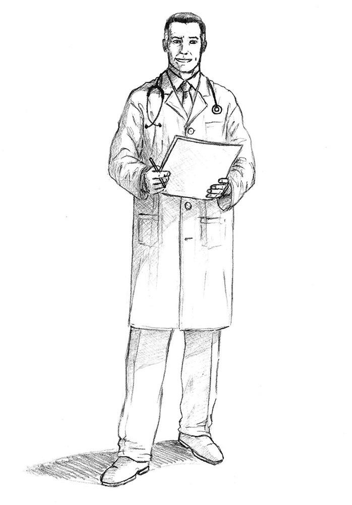 как нарисовать доктора 9