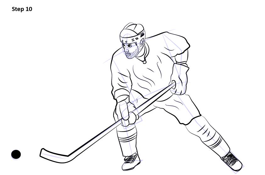 как нарисовать хоккеиста 10