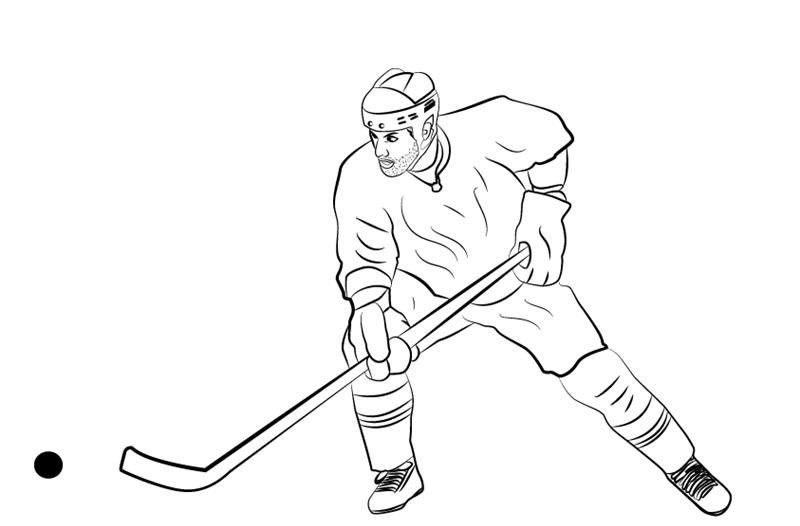 как нарисовать хоккеиста 11