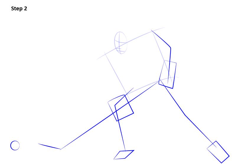 как нарисовать хоккеиста 2