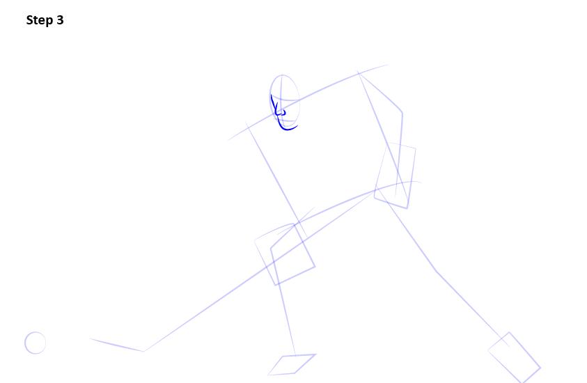 как нарисовать хоккеиста 3