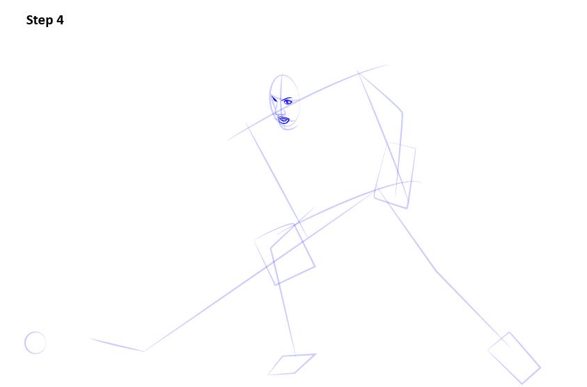 как нарисовать хоккеиста 4